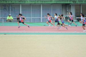 女子1,2年50m決勝