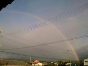 ウエルネス整体院の裏に虹